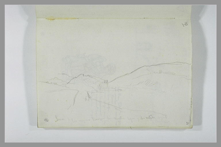 DEHODENCQ Alfred : Paysage et notes manuscrites