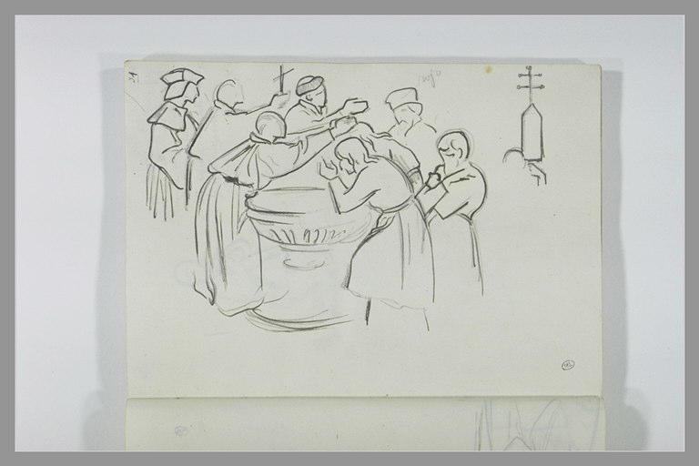 DEHODENCQ Alfred : Figures autour d'un baptistère