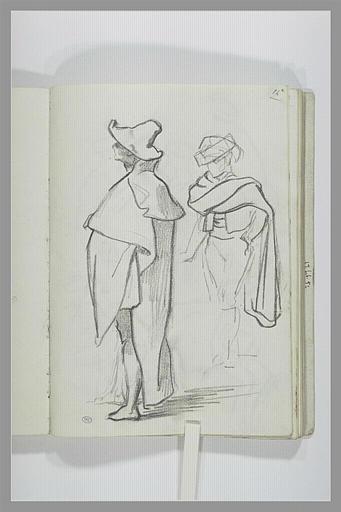 DEHODENCQ Alfred : Deux études de figures debout
