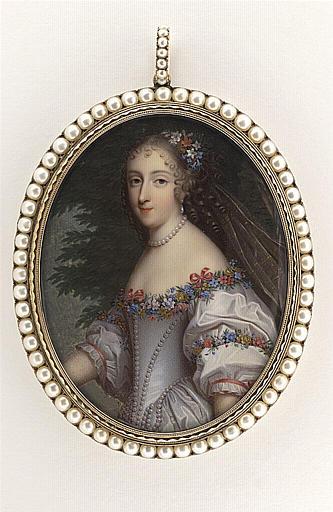 anonyme : Portrait de Mademoiselle de La Vallière en costume de Flore