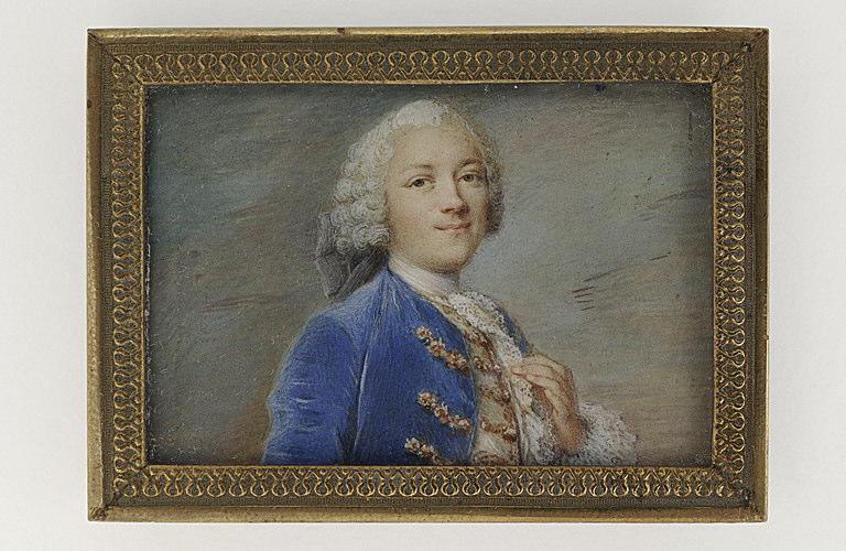 MUSSARD Robert : Portrait d'homme en buste sur un fond de ciel bleu