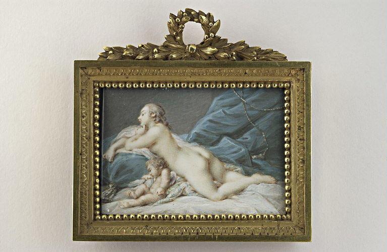 CHARLIER Jacques : Vénus et l'Amour caressant une colombe
