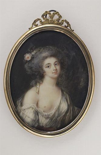 Portrait de jeune femme au sein nu