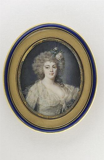 HOIN Claude Jean-Baptiste : Portrait de Mademoiselle Dugazon dans le rôle de Nina ou la Folle par amour