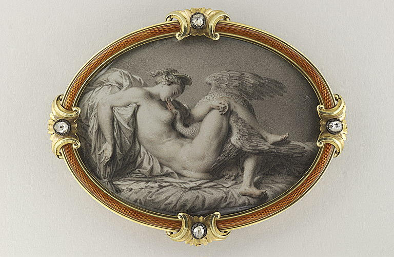 KLINGSTEDT Karl Gustav, BUONARROTI Michelangelo (inspiré par) : Léda et le cygne