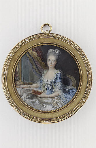 MOSNIER Jean Laurent : Portrait de la duchesse de Fitz-James à sa toilette