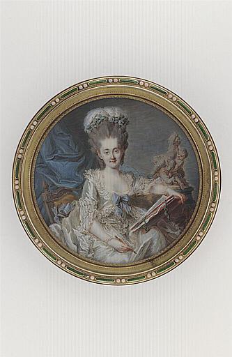 MOSNIER Jean Laurent : Portrait de jeune femme dessinant