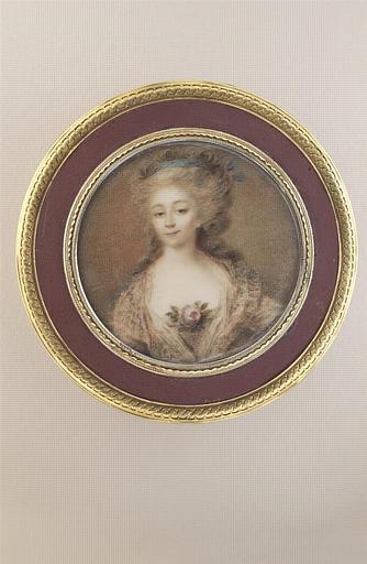 CAMPANA Ignace Jean Victor (attribué à) : Jeune femme avec une rose au corsage