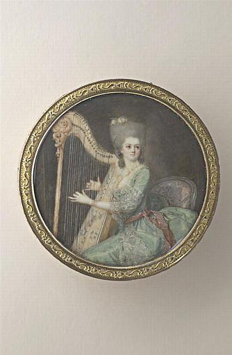 Jeune femme jouant de la harpe_0
