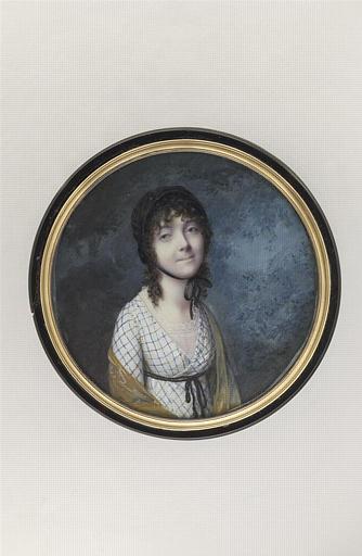 DUBOIS F : Jeune femme brune