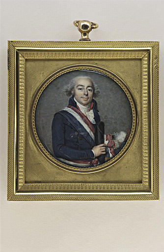 DUMONT François : Portrait du comte François Antoine de Boissy d'Anglas