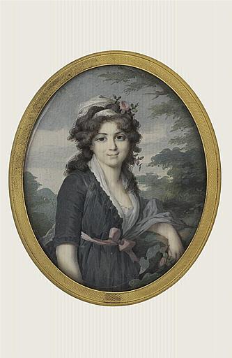 LETELLIER Jean-Baptiste Joseph : Jeune femme brune