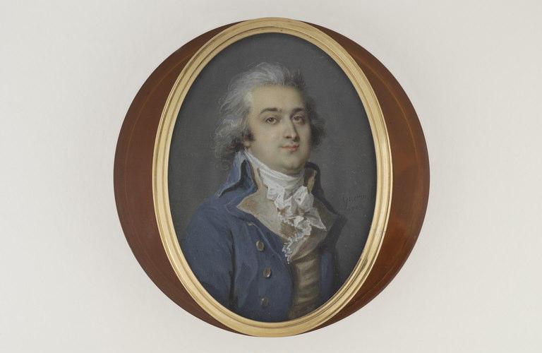 GUERIN Jean Urbain : Portrait d'homme en cheveux poudrés