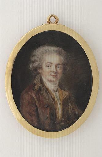 Portrait d'homme en habit rougeâtre
