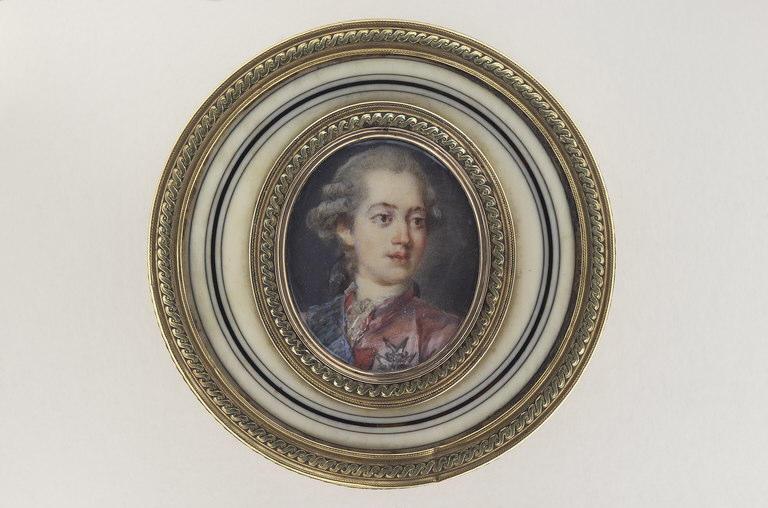 HALL Per Adolf : Portrait présumé du comte d'Artois (le futur roi Charles X)