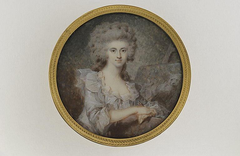 Jeune femme devant un chevalet