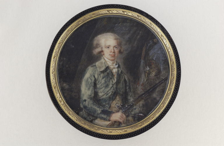 HALL Per Adolf (attribué à) : Portrait d'un chasseur