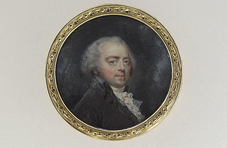 HOIN Claude Jean-Baptiste : Portrait de l'artiste en perruque poudrée