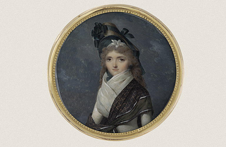 Jeune femme en costume de Directoire_0