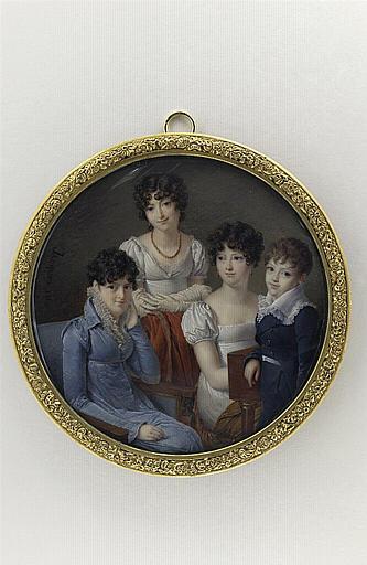 Trois jeunes filles et un garçonnet_0