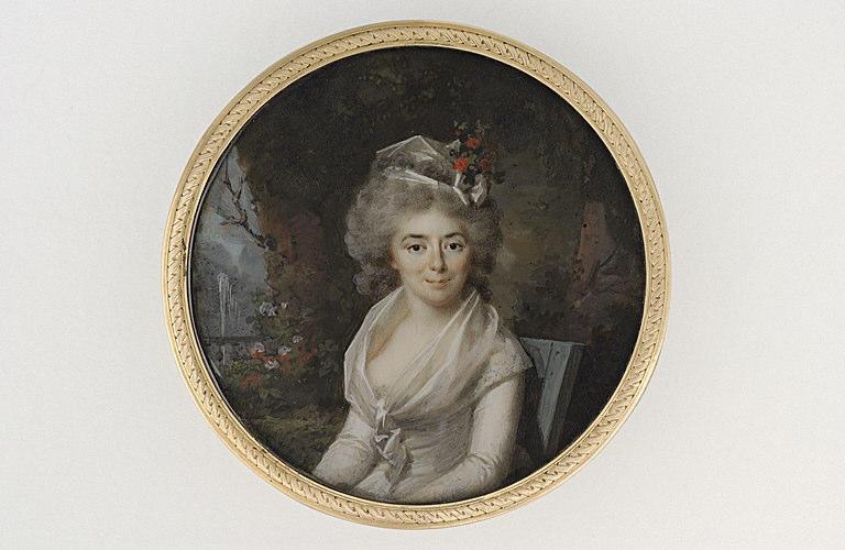 PERIN-SALBREUX Lié Louis : Portrait de Madame Teinière