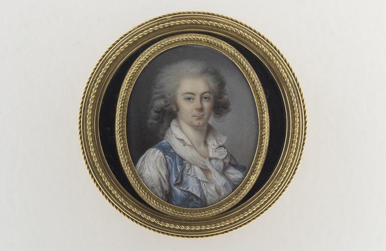 SICARD Louis Marie (attribué à) : Portrait de jeune homme en buste de trois quarts