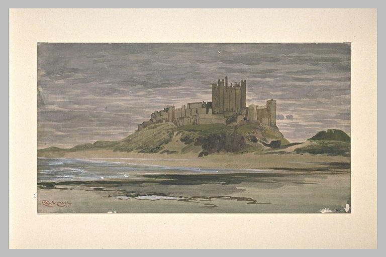 Bamborough Castle, view of Seashore