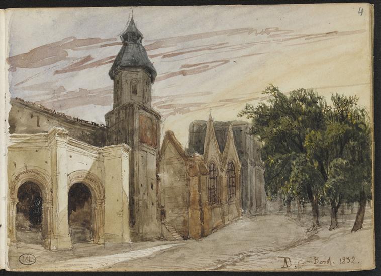 Vue d'une église à Bordeaux_0