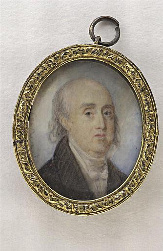 CARRIER Joseph Auguste : Portrait de vieillard chauve