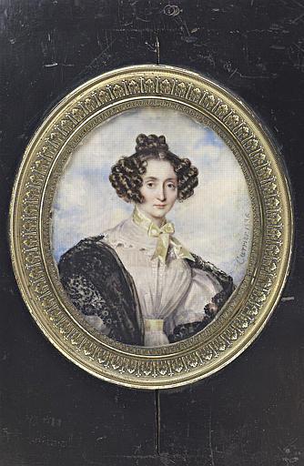 CARRIER Joseph Auguste : Portrait de femme, à mi-corps, de face