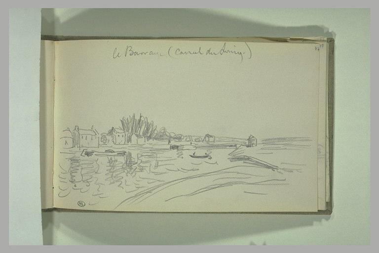 SISLEY Alfred : Le barrage du canal du Loing