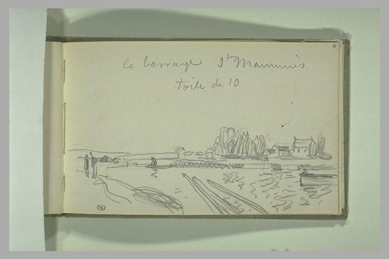 Le barrage de Saint-Mammès