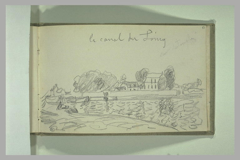 SISLEY Alfred : le canal du Loing