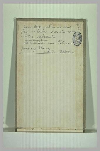 SISLEY Alfred : Annotations manuscrites