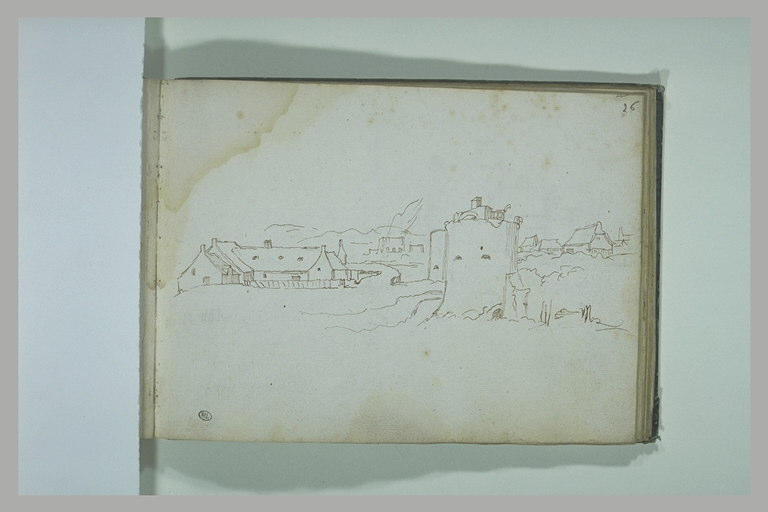 Paysage avec diverses constructions