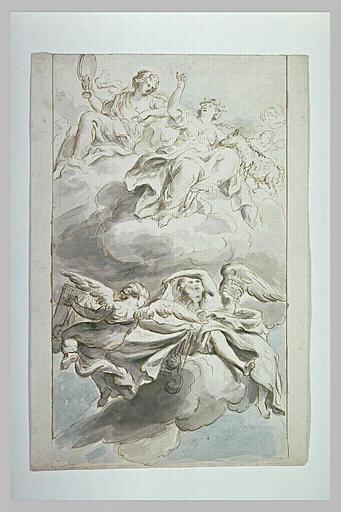 Plafond d'église : allégorie de la Vérité et de la Pureté