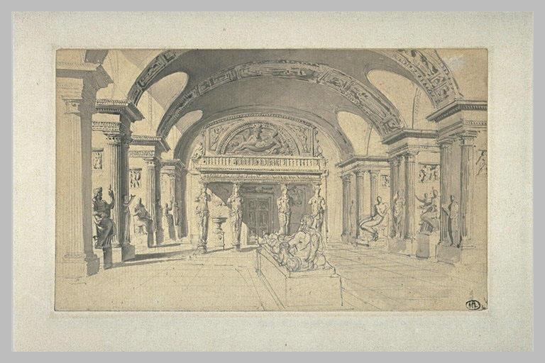Vue de la salle des Cariatides au Louvre_0