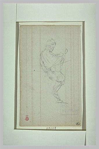 Deux études du Prince Impérial tenant son violon_0
