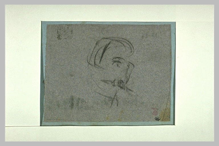 Croquis en caricature de la tête de l'Empereur Napoléon III_0