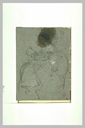 Croquis d'une femme assise tenant un feuillet qu'elle semble lire_0