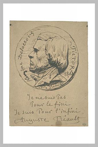 Médaillon d'Eugène Delacroix_0