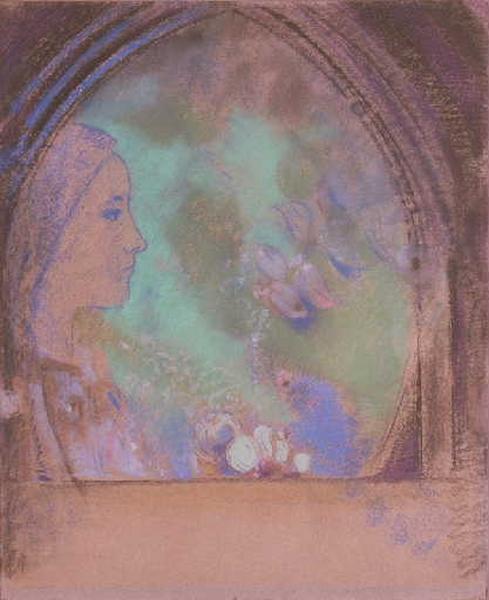 Profil de femme ; Tête de femme, vue de profil (autre titre) ; Profil de femme dans une ogive (titre du Wildenstein)_0