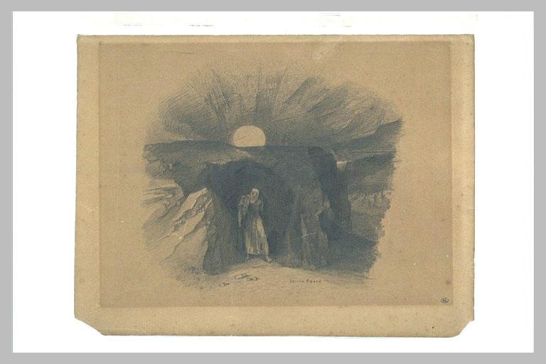 Caverne d'où sort un homme_0