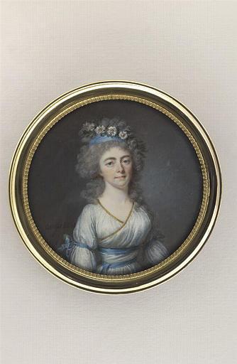 AUGUSTIN Jean-Baptiste Jacques : Portrait de la Comtesse Coiffier de Moret