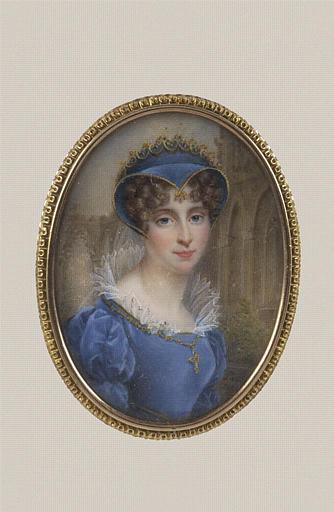 AUGUSTIN Pauline : Portrait de Pauline Bonaparte, en buste