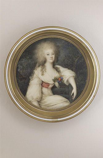CAMPANA Ignace Jean Victor : Portrait de la princesse de Lamballe