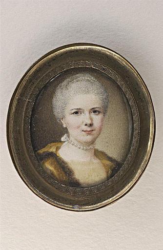 CHALLE Charles Michel Ange : Portrait de Madame Challe