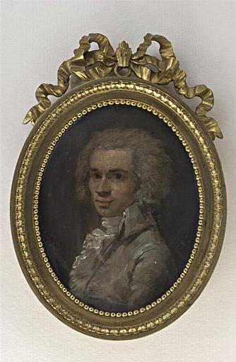 DUCREUX Joseph (attribué à) : Portrait d'homme, en buste, en costume gris