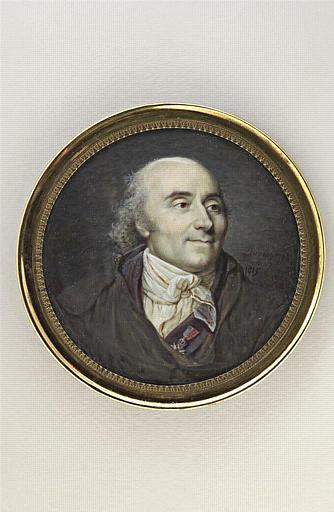 DUMONT François : Portrait du graveur Nicolas Ponce, en buste