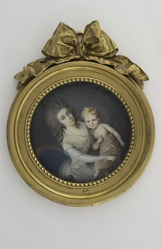 Jeune femme et enfant